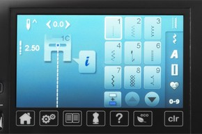 Dotykowy kolorowy ekran - BERNINA 560