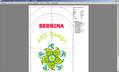BERNINA-WILCOM ART Design - Wydruk