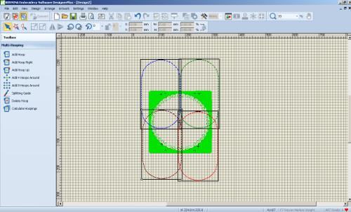 Designer Plus - Dzielenie haftu na tamborki