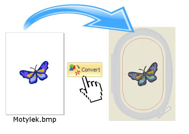 Bernina-Wilcom Editor Plus - Konwersja grafiki rastrowej na haft