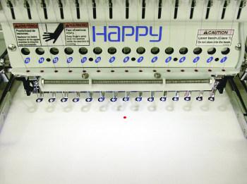 Wskaźnik laserowy w hafciarce HAPPY HCD2