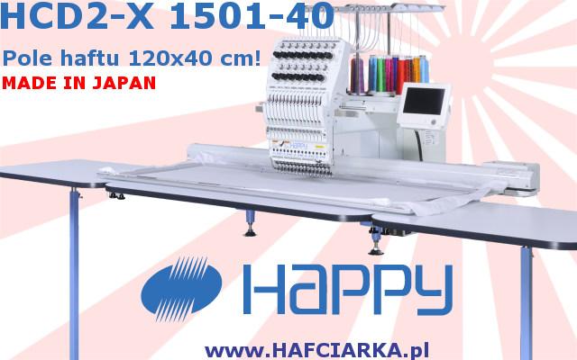 HAPPY HCD2-X 1501-40 - Komputerowa, japońska hafciarka przemysłowa z najwyższej półki