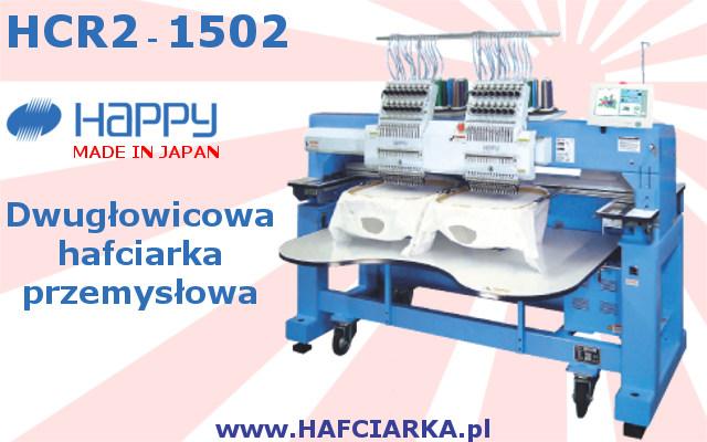 HAPPY HCR2 1502 - Przemysłowa, japońska, 2-głowicowa hafciarka komputerowa