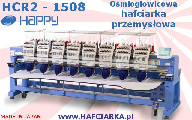 HAPPYH HCR2 1508 - Przemysłowa, Japońska hafciarka 8-głowicowa, 15-igłowa