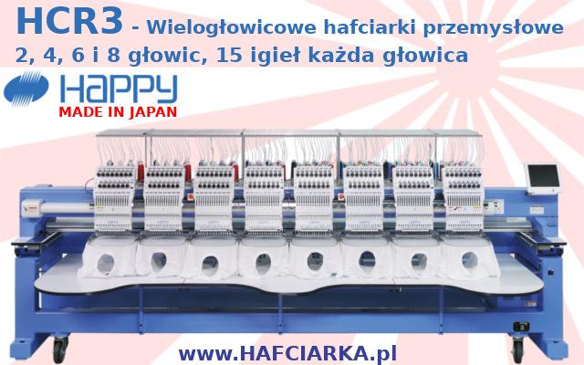 HAPPY HCR2 - Wielogłowicowe hafciarki przemysłowe - Made in Japan