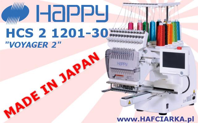HAPPY HCS 2 1201-30 - Komputerowa, japońska hafciarka przemysłowa