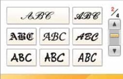 BROTHER PR 1000 - Czcionki alfabetu