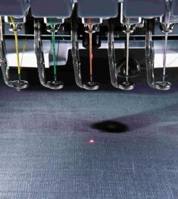 Laserowy wskaźnik w hafciarce BROHER PR 655