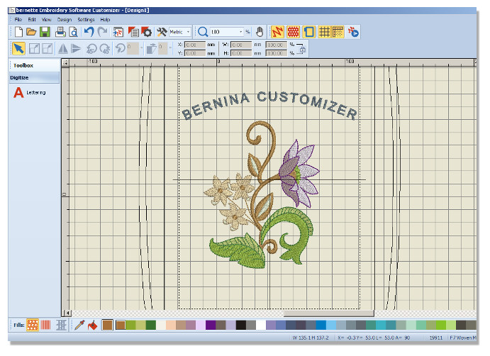 BERNINA Embroidery Software -Bernette CUSTOMIZER